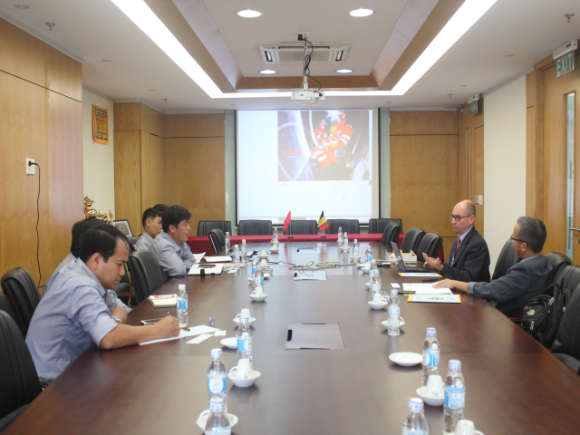 Company top leaders met with CFE Group representative from Belgium