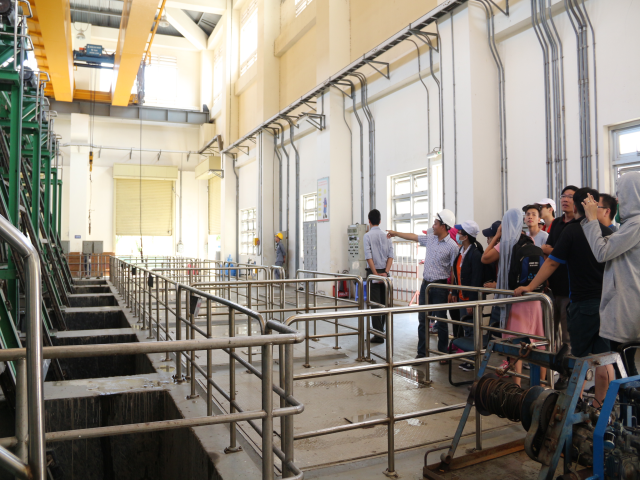 Vietnamese - German University visited Binh Hung Wastewater Treatment Plant